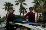 49er sailors Biller Gooderham and Ian Hogan