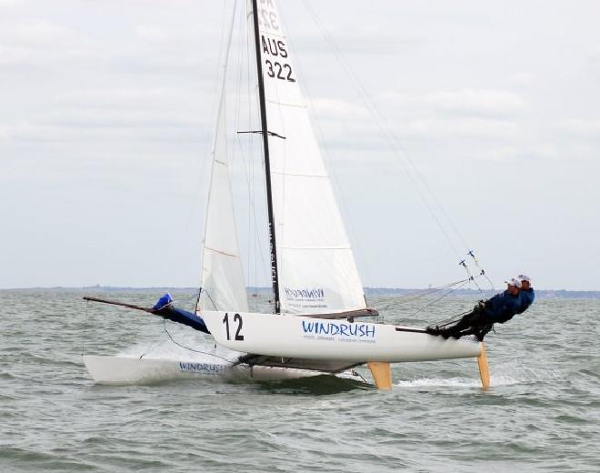 Tornado catamaran sailing