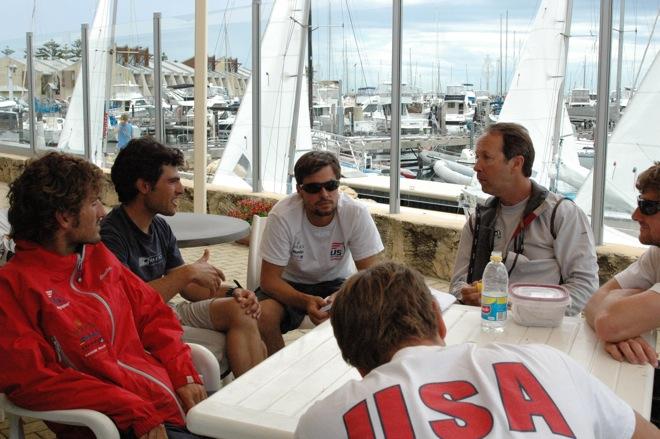 470 sailing coaches Nigel Cochran and Morgan Reeser